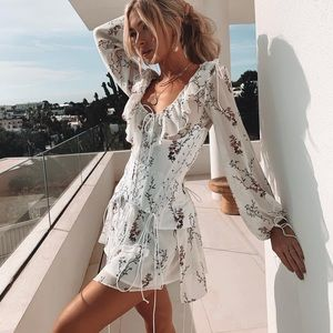 For Love and Lemons Lillie 2 Piece Corset Dress